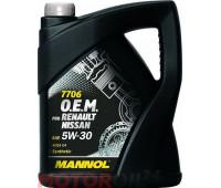 MANNOL 7706 O.E.M. for Renault Nissan 5W-30