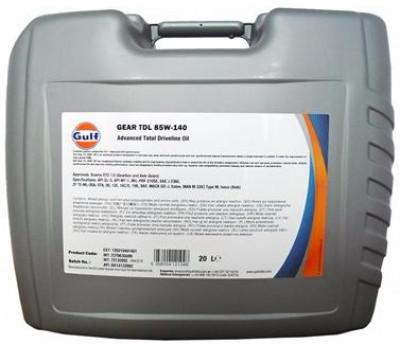 Трансмиссионное масло GULF Gear TDL 85W-140 оптом и в розницу