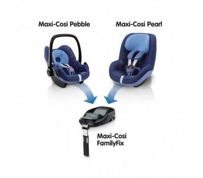 Детское автокресло MAXI-COSI Pebble + База FamilyFix Origami Black