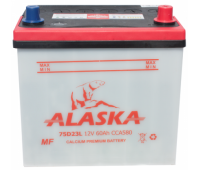 Аккумулятор ALASKA MF 60 L 75D23 calcium +