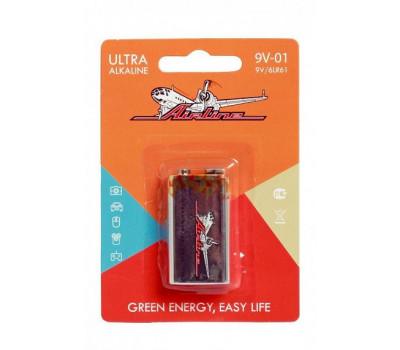 Батарейки AIRLINE 6LR61/Крона 9V щелочная 1 шт.