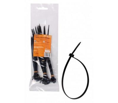 Стяжки (хомуты) AIRLINE кабельные, пластиковые, набор 60шт., черные - 2