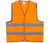 Жилет со светоотражающими полосами STVOL оранжевый